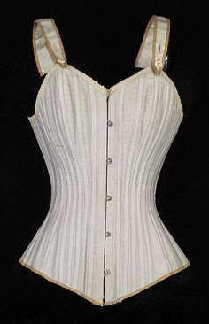Corset Royal Worcester Corset Company (American, 1864–1950)  Date:     ca. 1880 Culture:     American Medium:     Cotton, bone Cred...