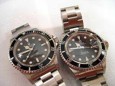 Vintage Rolex 5513 & Tudor submariner