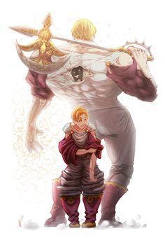 Lord Escanor-the seven deadly sins Seven Deadly Sins Anime, 7 Deadly Sins, Fanarts Anime, Manga Anime, Anime Art, Otaku, Anime Comics, Lord Escanor, Character Concept