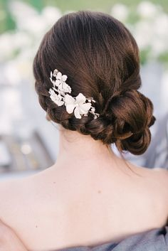 side braided updo hairstyle