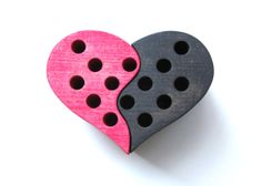 HEART PENCIL HOLDER / Pen Holder / His & by SpareTimeWoodDesigns, $39.99