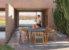 Solid teak chair by Manutti