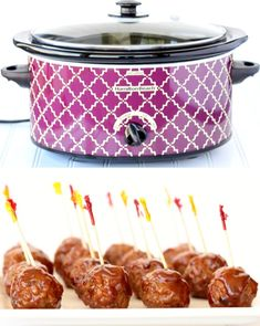 Crockpot Meatballs BBQ Dr Pepper Easy Appetizer from frozen meatballs! {Just 3 Ingredients}  These are so simple to make and outrageously delicious!  Go grab the recipe and give them a try! Healthy Dinner Recipes, Appetizer Recipes, Easter Recipes, Easter Ideas, Summer Recipes, Slow Cooker Recipes, Crockpot Recipes, Barbecue Recipes, Crock Pot Meatballs