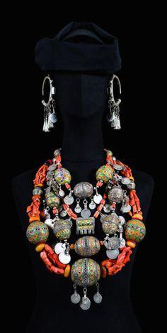 "Morocco | ""Parures de femme juive de Tahala""  Southwestern Morocco | ©Nicolas Mathéus/Musée Berbère"