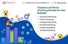 Trusted Social Media Marketing Services for Your Business by Protocloud @ affordable cost. Social Media Marketing Companies, Social Media Services, Facebook Marketing, Business Marketing, Digital Marketing, Top Social Media, Social Media Pages, Pinterest Marketing