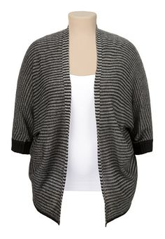 Open Front Striped Cardiwrap (original price, $39) available at #Maurices
