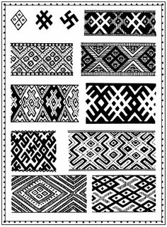 Pagan symbols used in embroidery 10-19th centuries  Slavic symbolism - 8 page…