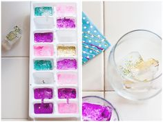 Próxima ideia para sua festa: gelo com glitter!