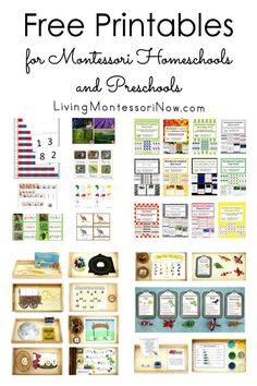 Free Printables for Montessori Homeschools and Preschools - homeschooling - Huge number of resources for free printables for Montessori homeschools and preschools along with i - Montessori Kindergarten, Montessori Homeschool, Montessori Elementary, Montessori Classroom, Montessori Toddler, Preschool Curriculum, Montessori Activities, Homeschooling, Montessori Bedroom