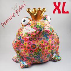 Pomme Pidou Froschkönig XL rosa Kreise