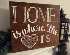 Hand Painted Home is Where the Heart is by JamesBelleDesigns