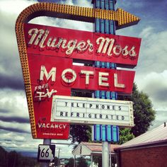 The Munger Moss Motel along iconic Route 66 in Lebanon, Missouri