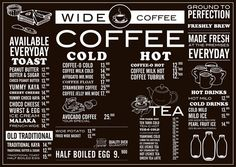 Wide Coffee - Menu by ranny febrianti, via Behance