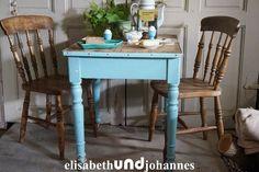 Stühle - Uralt! shabby chic charmanter Stuhl Belgien (2x) - ein Designerstück von elisabethUNDjohannes bei DaWanda