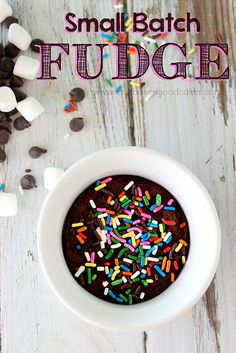 Small Batch Fudge - I know I'm gonna regret pinning this, but this is genius!!! lol