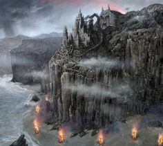 Dragonstone is a volcanic island at the mouth of Blackwater Bay, created by the active volcano, Dragonmont. The island is damp and dreary. The castle of Dragonstone is a small fortress located on the face of the volcano.