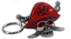 Piratenkopf an Schlüsselanhänger - ca 5cm