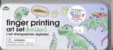 Finger Printing Art Set DINOSAURS TREX UK BY NWT FACTORY SEALED NEW FREE SHIP US #NPW