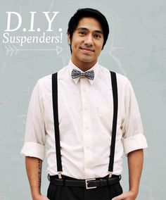 Did you know that suspenders are the new beards? | 32 DIY Prom Accessories That Will Make You The Coolest Kid InSchool