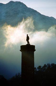 Bonnie Prince Charlie site in Glenfinnan, Scotland
