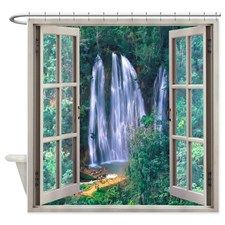 Famous Salto El Limon waterfall in Shower Curtain