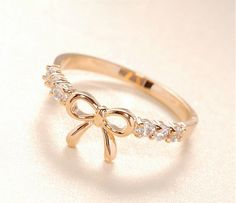 Fashion accessories rhinestone delicate cutout bow  punk midi ring jewelry0858 US $0.47