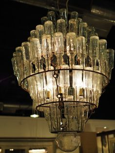 Bottle chandelier from dwell uk lighting pinterest mozeypictures Choice Image