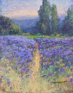 Don Bishop, award winning fine artist in Portland, OR creating plein air impressionist landscape oil paintings. Don also paints cityscapes, figures and large studio works. Impressionist Landscape, Landscape Paintings, Oil Paintings, Garden Trees, Tree Art, Ocean, Studio, Caption, Portland