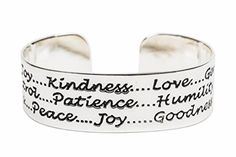 Alpaca Silver Fruit of the Spirit Religious Cuff Bracelet Handmade Size Large Engraved based on Galatians 52223 ** Continue to the product at the image link. Note: It's an affiliate link to Amazon