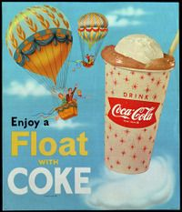 float coke, I remember these paper cups.
