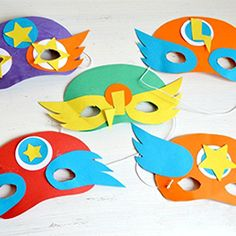 Great little masks to make for the kids or even as a party activity!