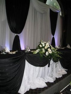 Wedding, Reception, White, Black -