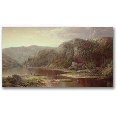 Trademark Fine Art On the Shenandoah Canvas Art by William Sonntag, Size: 24 x 47, Multicolor