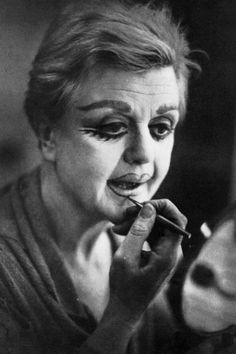 Angela Lansbury makes up as Mrs Lovett in Sweeney Todd on Broadway.