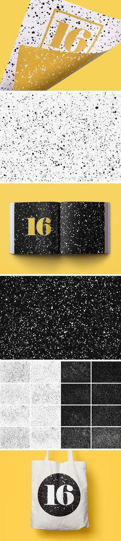 16 Sprayed Vector Textures - download freebie by PixelBuddha