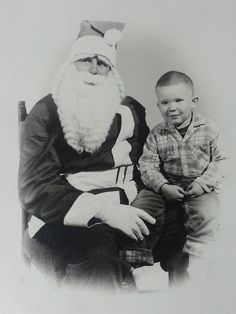 Vintage 1940's Christmas Photograph Child with Creepy Santa Claus Scary Photo | eBay