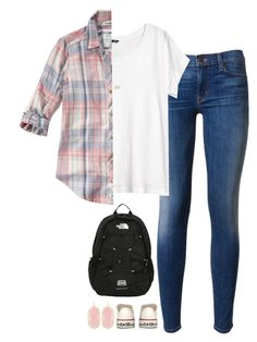 """""""{tag in d!}"""" by preppy-southern-girl-1-2-3 ❤ liked on Polyvore featuring Hudson, H&M, Abercrombie & Fitch, Converse, The North Face and Kendra Scott"""