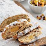 Stollen Alsatian Christmas brioche with thermomix Delicious Cake Recipes, Yummy Cakes, Christmas Stollen Recipe, Pumpkin Pie Cheesecake, Cuisine Diverse, King Arthur Flour, Flour Recipes, Confectioners Sugar, Savoury Cake