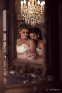 Intimate couple photo through the mirror | Gay & Lesbian Destination Wedding Photography | Memoire | Johannesburg, South Africa | Lauren Barkume