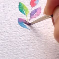Watercolor Flowers Tutorial, Watercolour Tutorials, Watercolor Pencil Art, Flower Tutorial, Floral Watercolor, Watercolor Paintings For Beginners, Watercolor Techniques, Watercolor Art Lessons, Easy Paintings