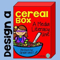 Learn everything you need to know about how to use cereal boxes to teach media literacy skills. Use this cereal box media literacy unit to integrate your media expectations into your Health and Math Probability curriculum expectations. Media Literacy, Literacy Skills, Advertising Words, Authors Purpose, Design Poster, Graphic Design, Branding, Graphic Organizers, Marketing