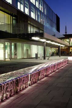 BERTA by VILAGRASA Modular bench and flowerpot made of aluminum plate, with plant motifs, and silver painted finish. Available either as a straight module or beveled on the left or the right side, thus offering complete freedom of composition. It can optionally be painted in the inside and fitted with LED lights to highlight the volume and the motif at nights, as well as with side covers to avoid any side access.