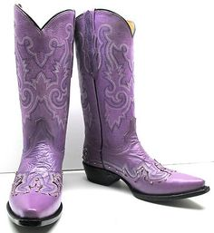 Details about Womens cowboy boots ladies leather embroider ...