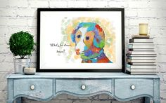 Remember our Max puppy artwork? We had so much fun using our bare fingers to paint him in acrylic! For all of you puppy lovers out there,  Max is NOW available as a stylized print. Great to give some puppy love and colour on your fave spot in the home! Only $25 for an A4 print. Also available in A5 and A3 sizes. Free shipping within Australia!!😊Shipping worldwide! .