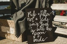 Cute sign for the wedding entryway