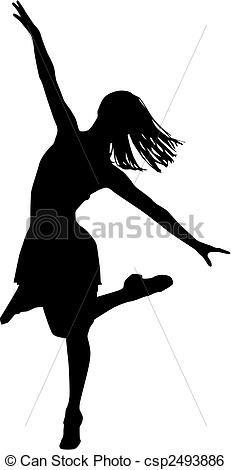 Dancer silhouette - csp2493886