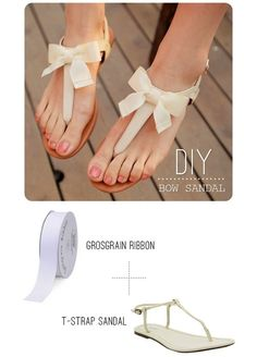 DIY Bow Shoes