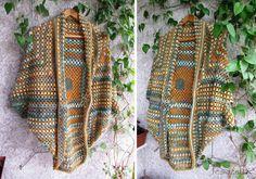 Crochet Cocoon Shrug Pattern - Lots Of Ideas Crochet Cocoon, Crochet Coat, Crochet Jacket, Crochet Cardigan, Crochet Granny, Love Crochet, Crochet Scarves, Beautiful Crochet, Crochet Shawl