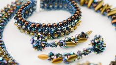 USED MATERIALS: 1. Czech beads nr. 10 2. Bicone crystal 4 mm 3. Rondelle 3×2mm 4..Dagger beads (2/2)