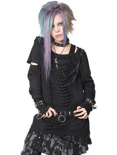 CDJapan : PUNX CHAIN SLASH Cutsew (M) SA68266-101 SEX POT ReVeNGE APPAREL / See more at http://www.cdjapan.co.jp/apparel/ #Japanese #PunkFashion
